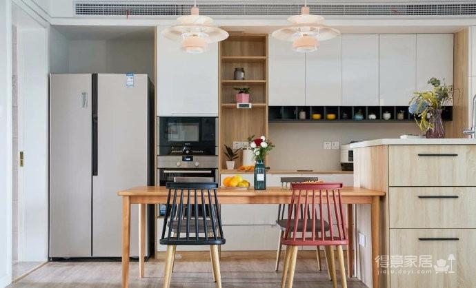 80平文艺北欧风装修,整屋风格风格偏简洁,暖灯,粉墙,再加上点绿意,超级温馨图_6