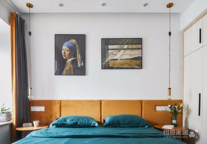 80平文艺北欧风装修,整屋风格风格偏简洁,暖灯,粉墙,再加上点绿意,超级温馨图_5