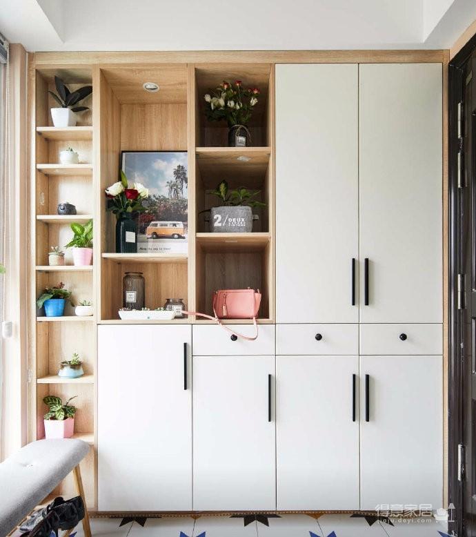 80平文艺北欧风装修,整屋风格风格偏简洁,暖灯,粉墙,再加上点绿意,超级温馨图_2