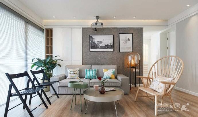 80平文艺北欧风装修,整屋风格风格偏简洁,暖灯,粉墙,再加上点绿意,超级温馨图_3