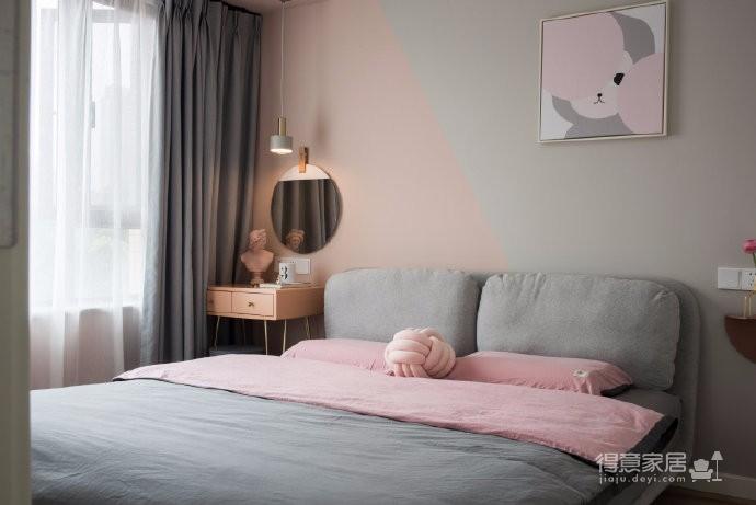 98平米北欧风格三居室,少女心满满的家图_4
