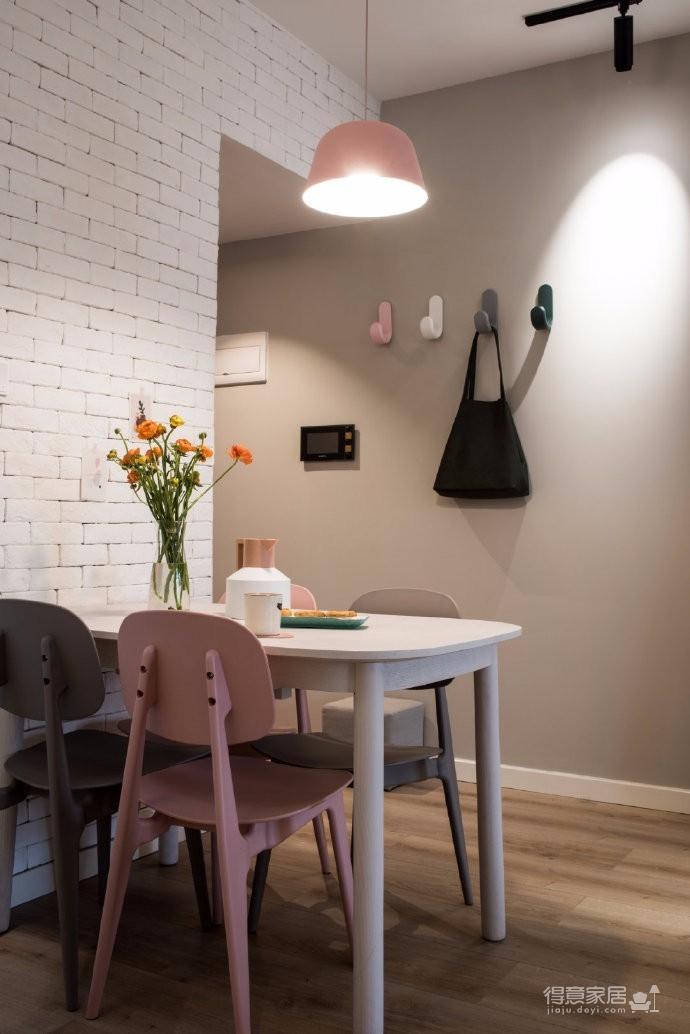 98平米北欧风格三居室,少女心满满的家图_5
