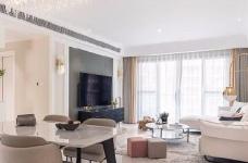 三居室现代轻美式,温馨优雅的质感图_8