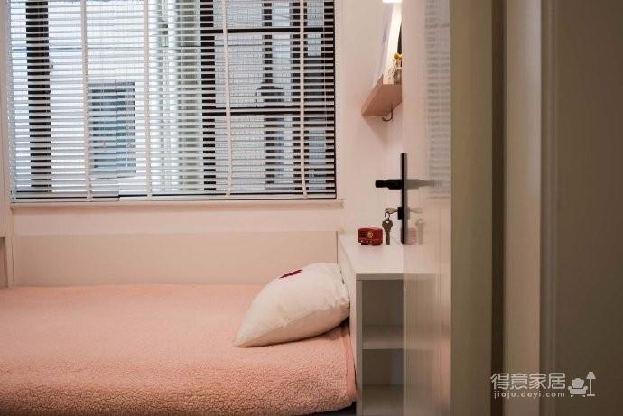 98平米北欧风格三居室,少女心满满的家图_9