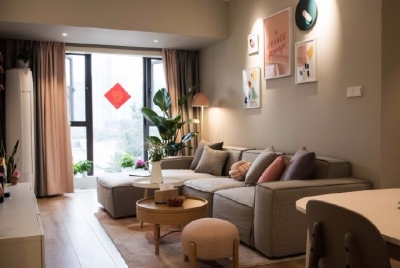 98平米北欧风格三居室,少女心满满的家
