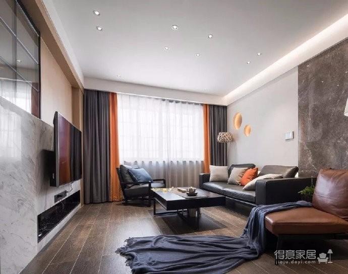 160m²轻奢格调府邸,高级灰和爱马仕橙的组合
