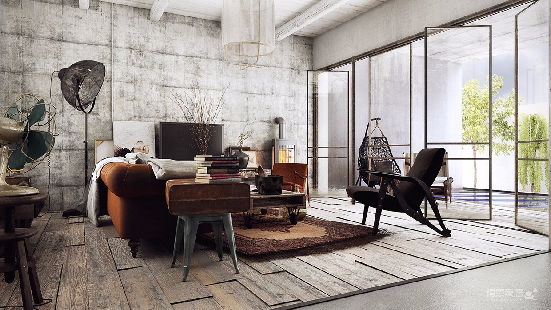 185㎡现代简约客厅装修效果图