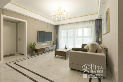 111平三室现代风绿色淡雅