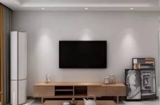 整体空间以简约的白色墙与木质感为主,通过日式的家具与禅意的细节布置,营造出一个舒适自然的端庄气质空间,给人以无限放松的居家体验,宽敞优雅而自然图_2