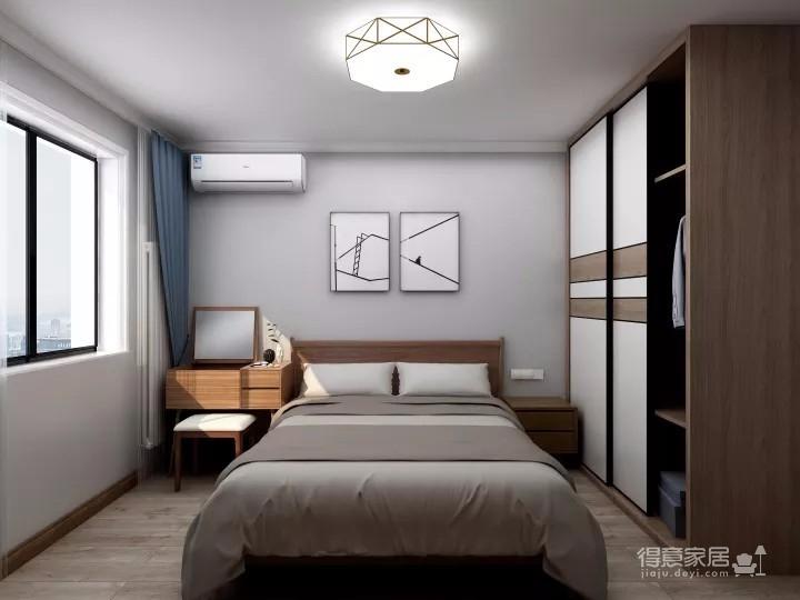 整体空间以简约的白色墙与木质感为主,通过日式的家具与禅意的细节布置,营造出一个舒适自然的端庄气质空间,给人以无限放松的居家体验,宽敞优雅而自然图_4