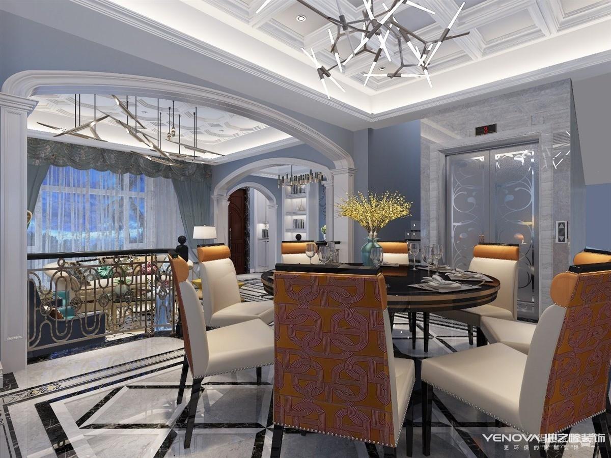 联投半岛别墅280平-美式轻奢风格