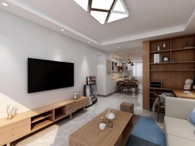 整体空间以简约的白色墙与木质感为主,通过日式的家具与禅意的细节布置,营造出一个舒适自然的端庄气质空间,给人以无限放松的居家体验,宽敞优雅而自然