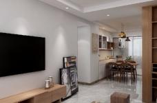 整体空间以简约的白色墙与木质感为主,通过日式的家具与禅意的细节布置,营造出一个舒适自然的端庄气质空间,给人以无限放松的居家体验,宽敞优雅而自然图_1
