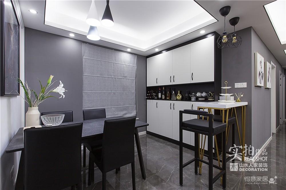 黑白灰128平四室两厅现代简约图_18
