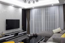 黑白灰128平四室两厅现代简约图_1