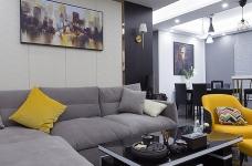 黑白灰128平四室两厅现代简约图_10