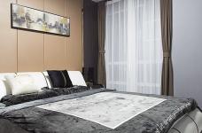 黑白灰128平四室两厅现代简约图_16