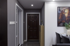 黑白灰128平四室两厅现代简约图_6