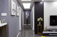 黑白灰128平四室两厅现代简约图_13