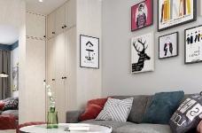 整个空间轻松而又舒服。主色调为清新的米色,搭配同样简约素雅的家具和软装,看一眼就让人情不自禁的爱上它。图_1