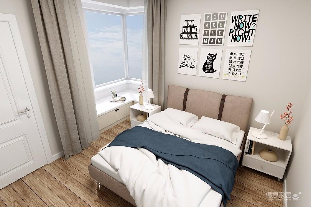 整个空间轻松而又舒服。主色调为清新的米色,搭配同样简约素雅的家具和软装,看一眼就让人情不自禁的爱上它。图_5
