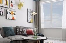 整个空间轻松而又舒服。主色调为清新的米色,搭配同样简约素雅的家具和软装,看一眼就让人情不自禁的爱上它。图_3