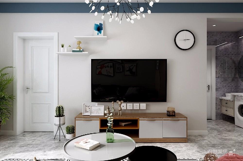 整个空间轻松而又舒服。主色调为清新的米色,搭配同样简约素雅的家具和软装,看一眼就让人情不自禁的爱上它。图_2