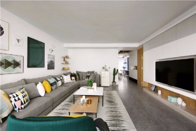 全屋安装中央空调,客厅采用无主灯设计,温馨又舒适的家怎么看都不不回感觉烦