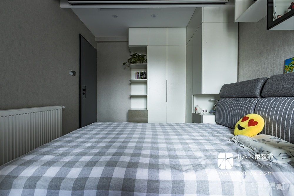 90平两室两厅冷色系现代风