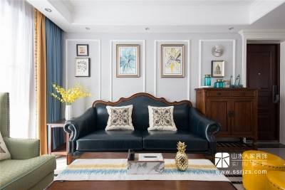 104平三室两厅典雅美式