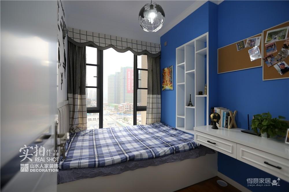 94平三室两厅蓝色北欧风