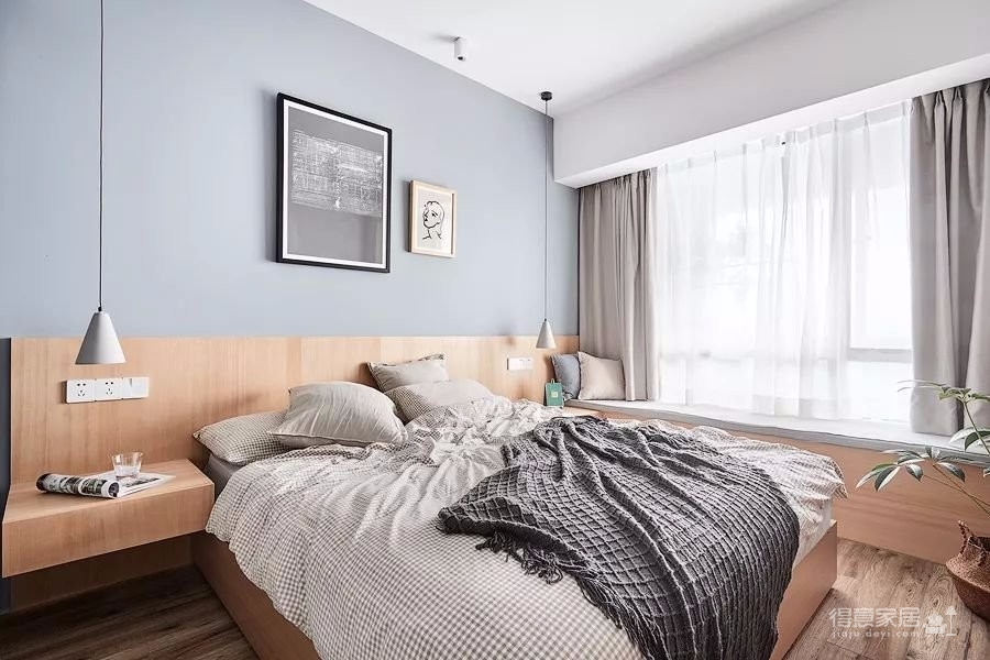 原木北欧风,有2个卧室,还有1个小书房,布局真的很不错。整个家大量搭配了原木家具,清新又自然,文艺又有格调,好喜欢这种休闲又放松的家居氛围。图_4