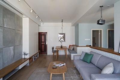 零空间浪费94平米日式北欧三居室