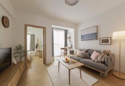 48㎡客厅卧室爆改日系风,对于家想要舒适自然的MUJI风,更偏日式一些,喜欢原木的纹理和颜色,就是要简单恬逸