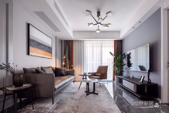 本案以现代风格出发,低饱和度色彩叙述着空间高级感。有序的布局透露着新现代主义纯粹的本质,阿尔卑斯系列瓷砖与跳跃的色彩点缀,让空间灵动富有张力、更具层次感图_1