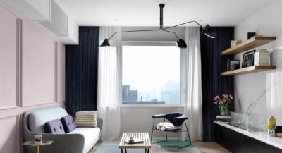 设计中,空间色调以淡粉色、白色、灰色为主色调,以简洁明朗的手法对美式品味重新诠释与定位,营造一个独具魅力的家庭氛围。