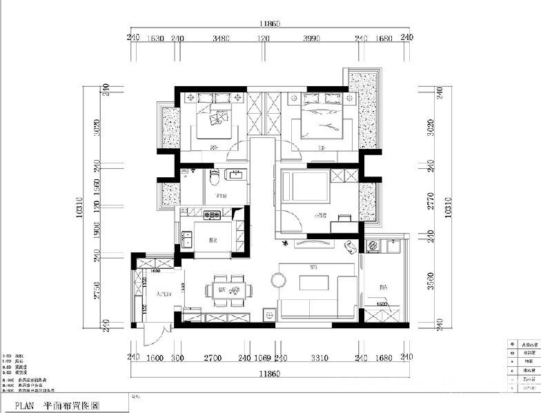 庭瑞新汉口115平-现代风格图_4