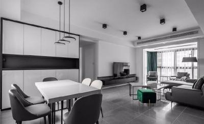 135平现代简约,以黑白灰为主题的家,总感觉酷酷的