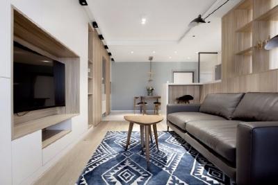80平米现代简约两居室,十年老房硬核改造