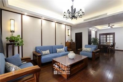 147平三室两厅新中式风