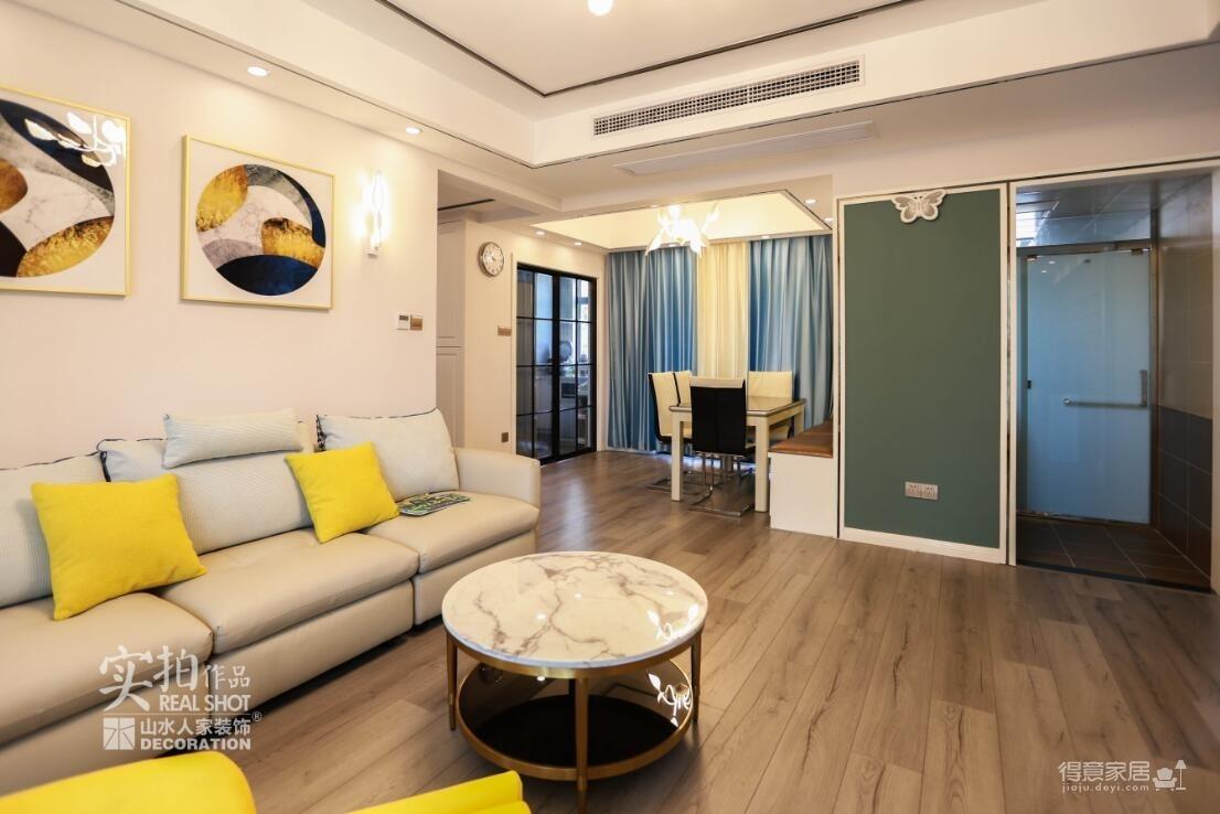 卡座设计 123平三室两厅现代风图_2