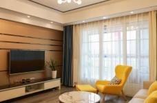 卡座设计 123平三室两厅现代风图_3