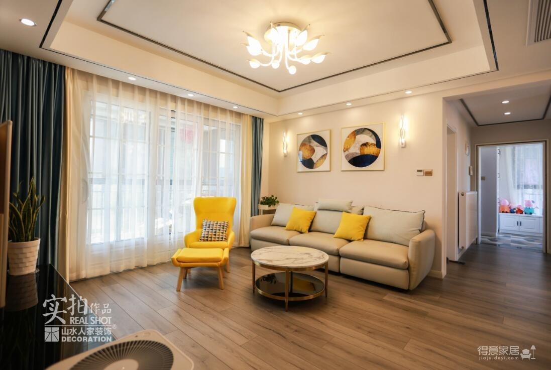 卡座设计 123平三室两厅现代风图_5