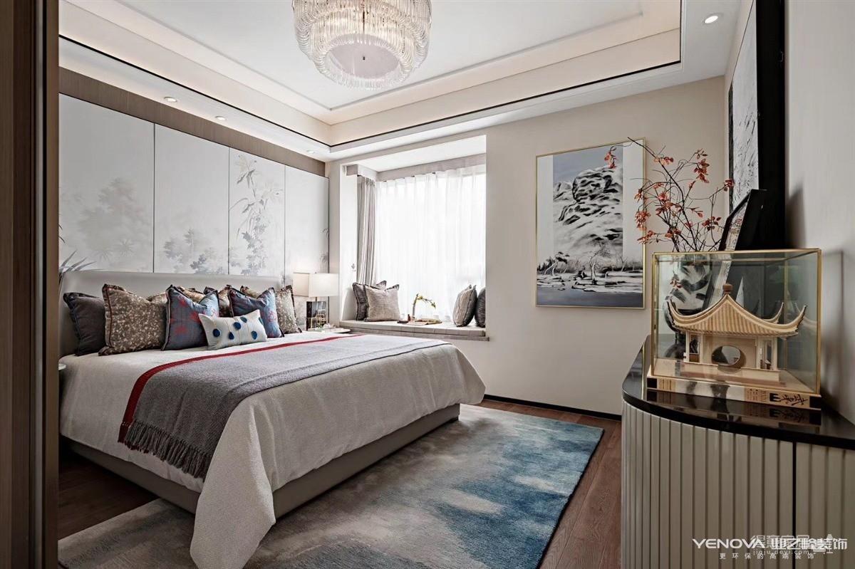 中建大公馆140平-新中式风格设计