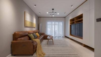 100平米北欧现代三居室。通透、明亮、温暖活泼