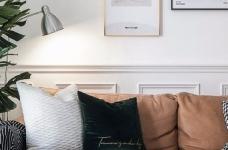 对家的构想:既要舒适,也要养眼。把书桌融入客厅,玄关用的是模仿壁炉的做法 把北欧的生活理念引入居家,惬意的宅家时光就这么开始了。图_3
