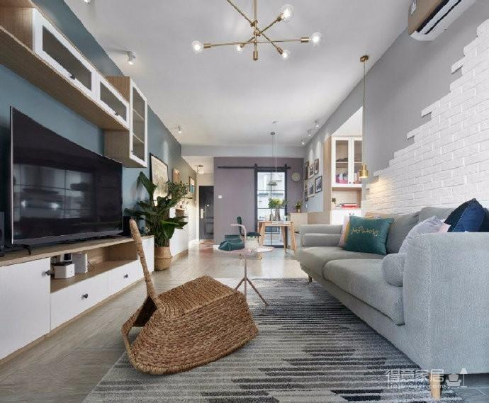 75㎡北欧风二居室,惬意舒适的清新休闲小窝,超爱!图_2