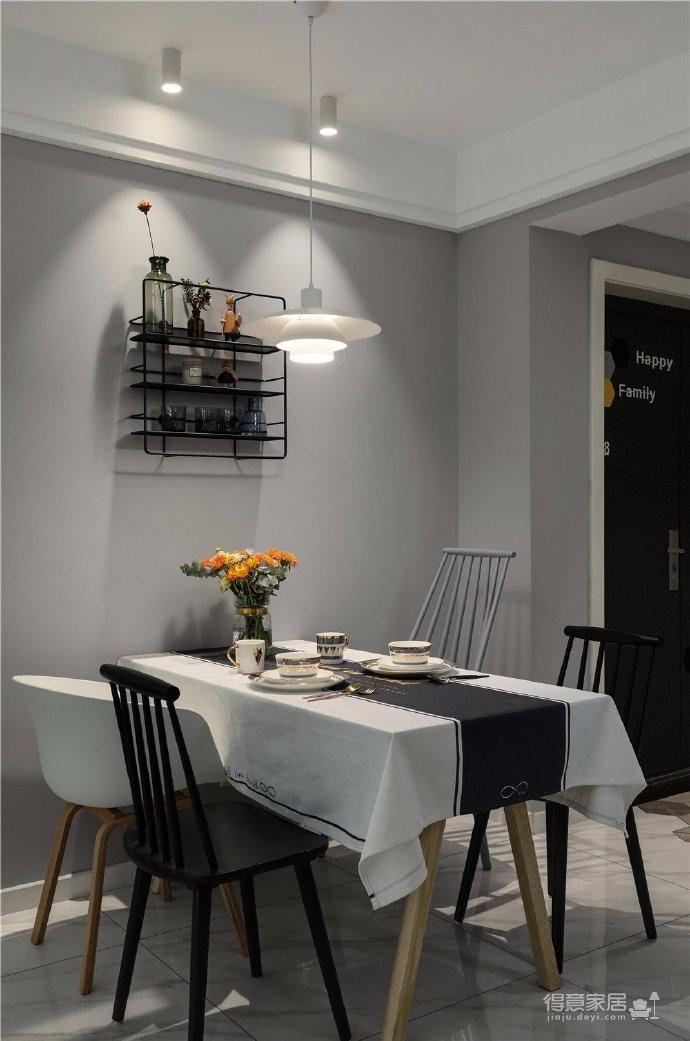97平北欧风装修,客厅的配色以灰色为主,绿色为点缀,清新又有格调图_6