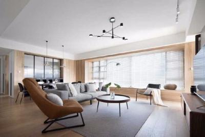 185平米现代简约四居室,摒弃过多的装饰,寻找自然原始的味道,来传达出那种回归自然的淳朴情感