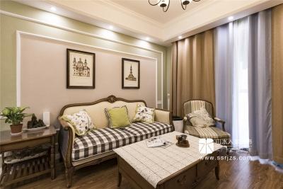 101平三室两厅果绿色美式